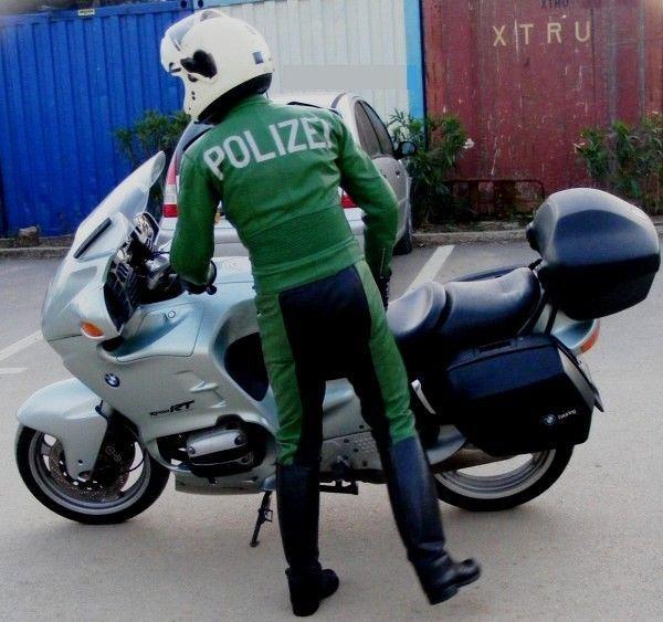 Police Polizei 2 Two Piece Leather Uniform Breeches