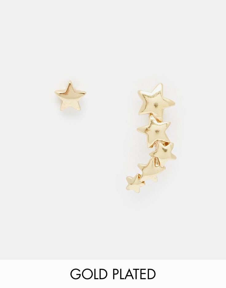 Image 1 - Pilgrim - Boucles d'oreilles et bracelet motif étoile en plaqué or