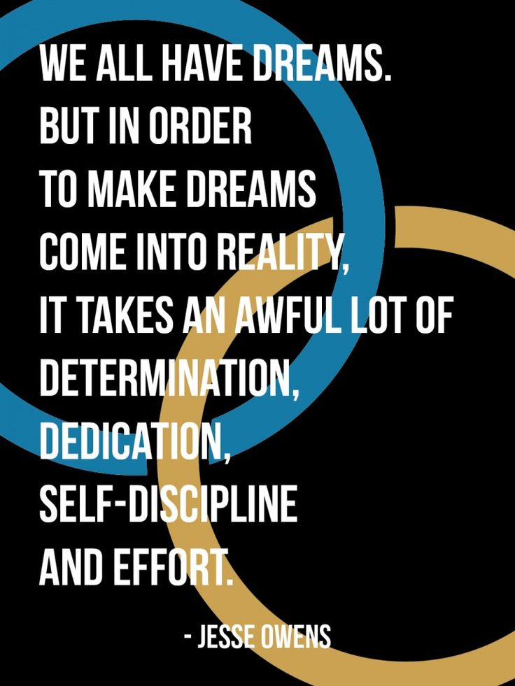Determination Quotes by Athletes | We all have dreams. But in order to make dreams come into reality, it ...