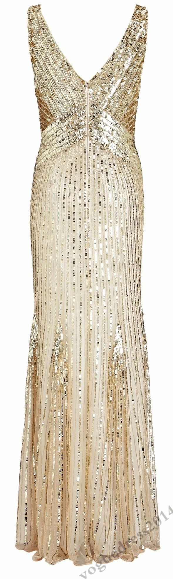 gold sequin dress, love this