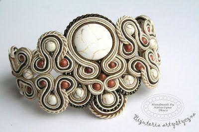 www.facebook.com/... Rękodzieło-biżuteria sutasz Handmade - Soutache jewellery. #bracelet  #bransoletka #prezenty #walentynki #valentinesday