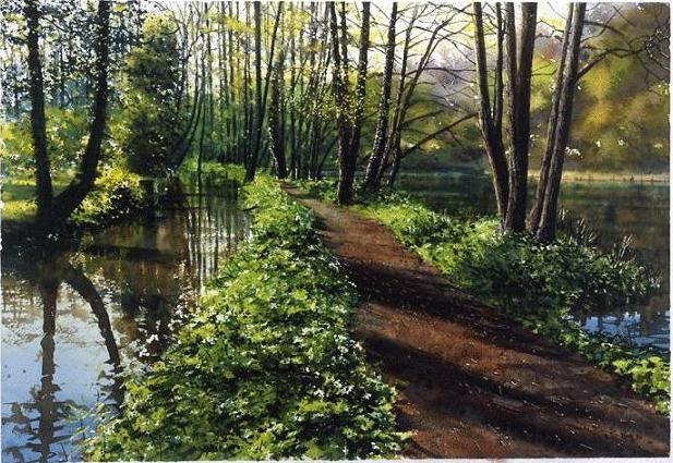 Landscape Watercolor Paintings by UK Artist Joe Francis Dowden. It's amazing what they can do with watercolors!