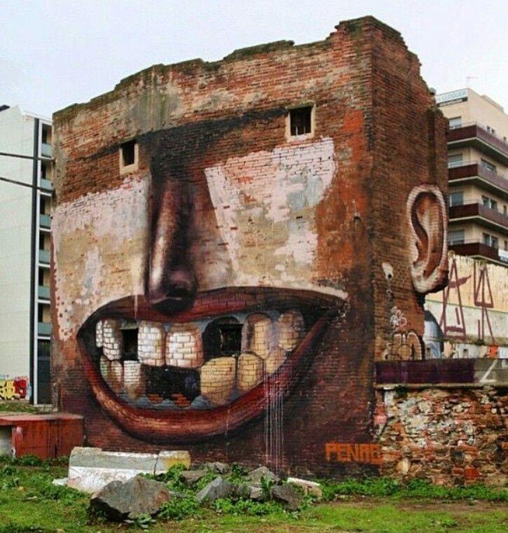 Best Art Images On Pinterest Street Art Graffiti Street - Spanish street artist transforms building facades into amazing artworks