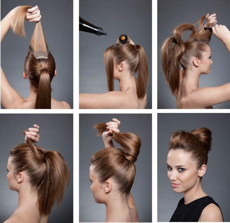 CHIGNON BOULE - Tuto #Chignon #banane #Boule #Braid #Hair #Styling #DIY #Elnett #LorealParis