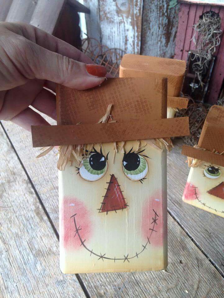 Sweet scarecrow face!
