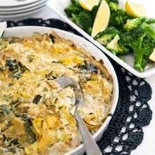 Garam masalagratinerad torsk med broccoli och citron - Recept