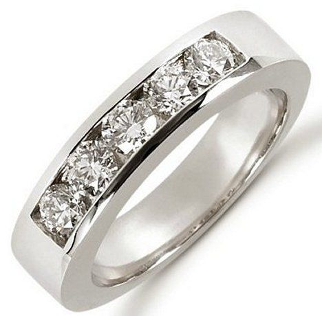 14K Diamond Anniversary Band (1.0ct. tw.) | Item#521266W | WeddingBands.com Mobile