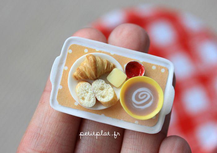 Miniature Food - Breakfast Tray Orange by ~PetitPlat on deviantART