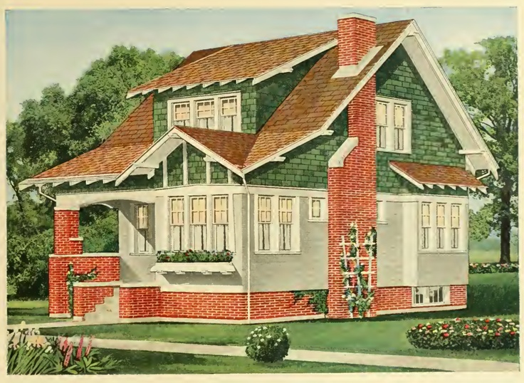 1000 images about house exteriors early 1900s on for Craftsman kit homes