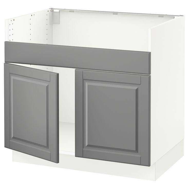 IKEA – SEKTION weiß Unterschrank für HAVSEN 2 Becken Spüle Rahmenfarbe: