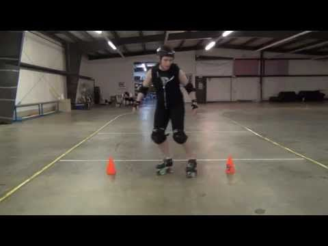 Roller Derby Basics: Lateral control (infinity drill) - YouTube