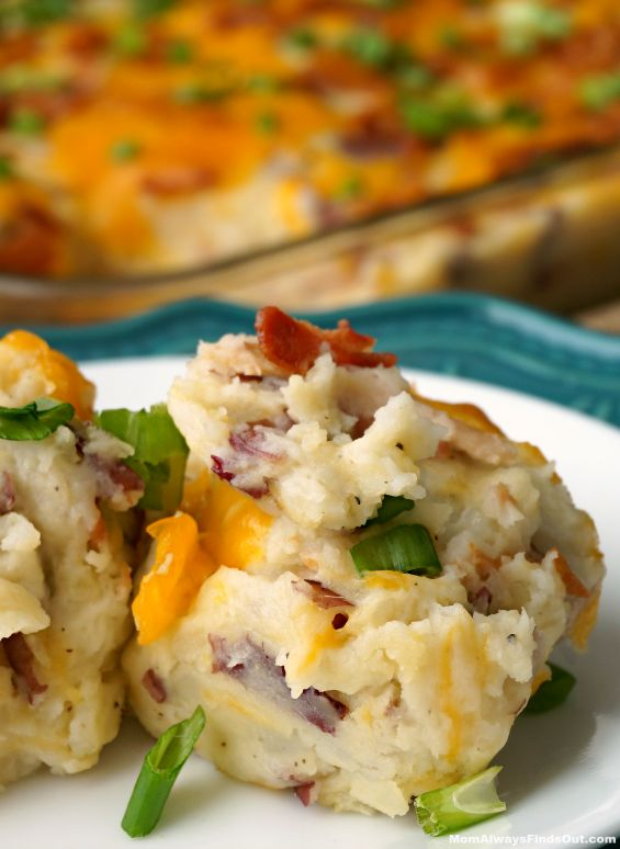 This loaded baked potato casserole is a truly delicious comfort food. Made with real cheese, real potatoes and real bacon, it's the ultimate side dish.