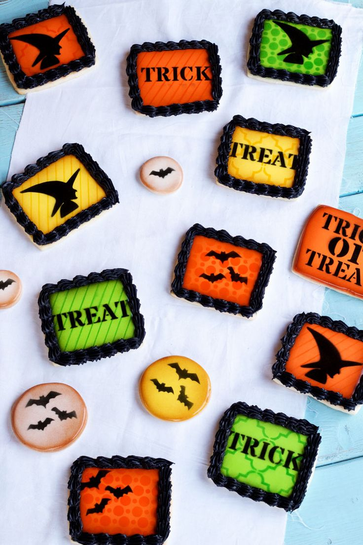 simple halloween cookies made with fun stencils