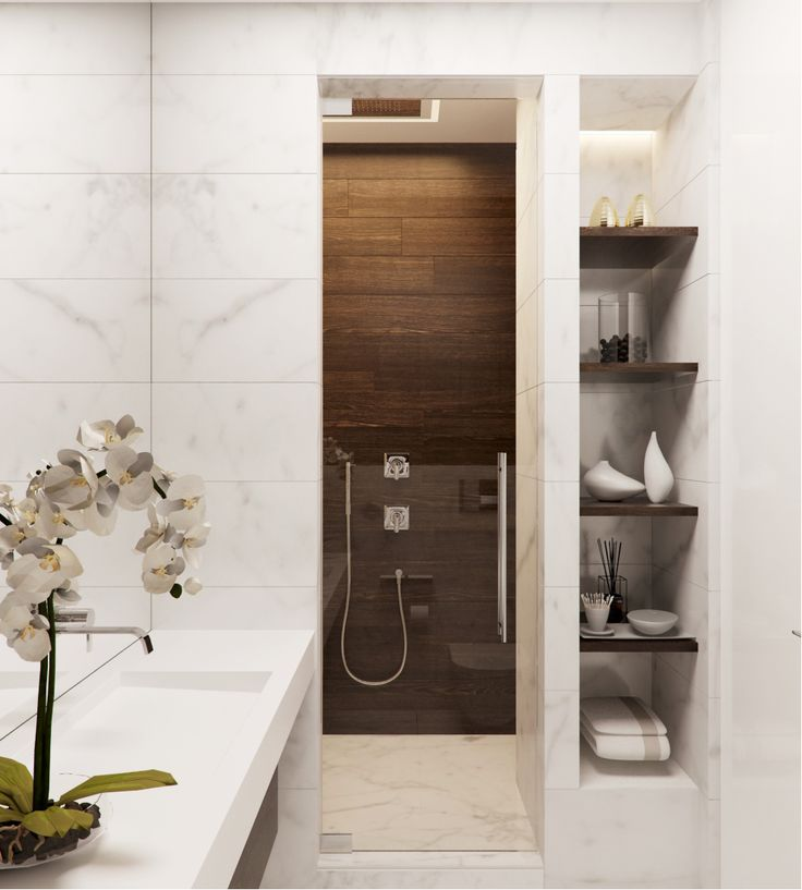 Check out this modern #bathroom! We love the shower stall in this place. www.remodelworks.com