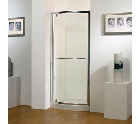 Kudos Original 900mm White Bowed Pivot Door With Tray And Waste Image