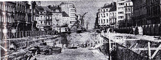 1956 creusement des tunnel sous le goulet