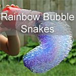 Rainbow Bubble Snakes and more hands-on art for kids