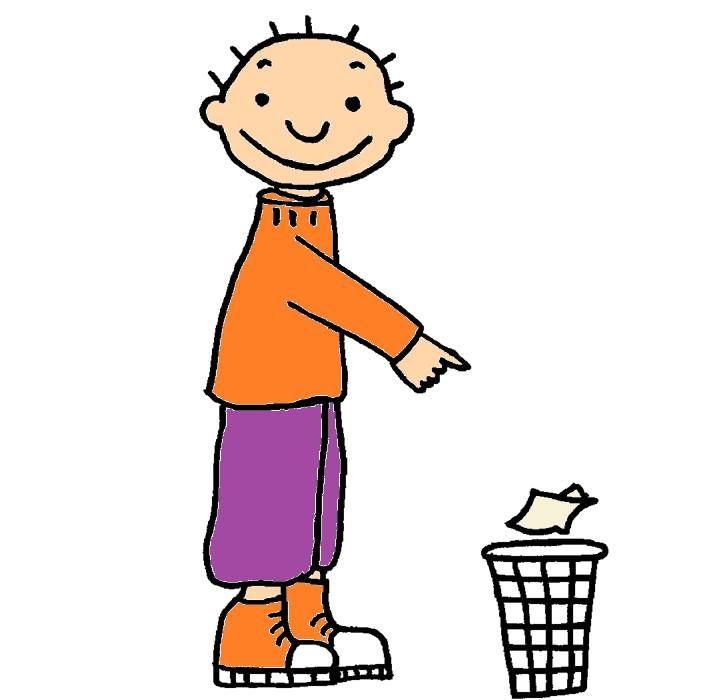 Jules sorteert afval