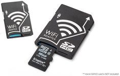 MicroSD Adapter With WiFi Super Powers - SCDAD002200  -With And Without microSD Card