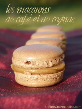 Macarons au café et au cognac - www.puregourmandise.com