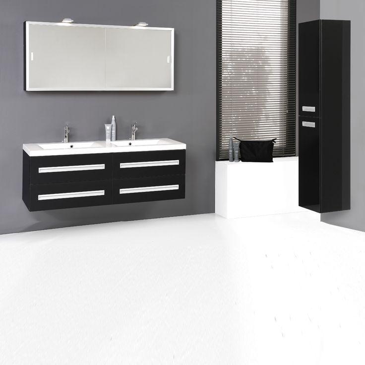 Die besten 25+ schwarze Badezimmer Ideen auf Pinterest Dusche - hochglanz kuchen badmobel mobalpa