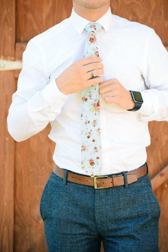 Retro Floral Skinny Tie 2.36 Inches by MYTIESHOP on Etsy