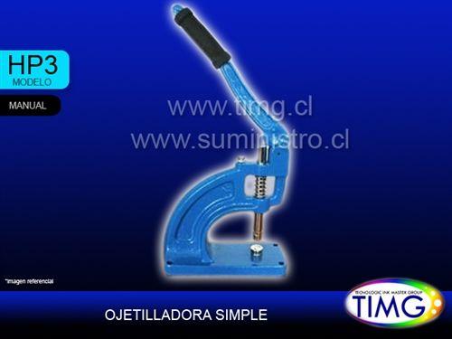 la Ojetilladora manual de sobremesa disponible Hp3 para ojetillo 12mm y adicional molde 15mm - http://www.suministro.cl/product_p/7511020001.htm