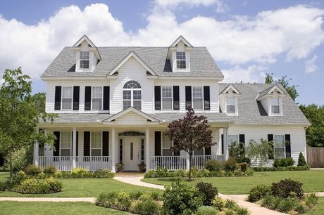 Four dormers, black shutters and a Palladian window are classic touches on a new… – New Home Source