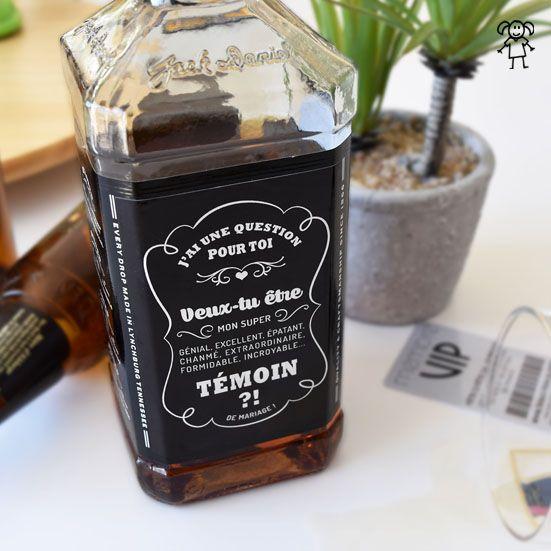 Étiquette Whisky – demande en témoin mariage originale