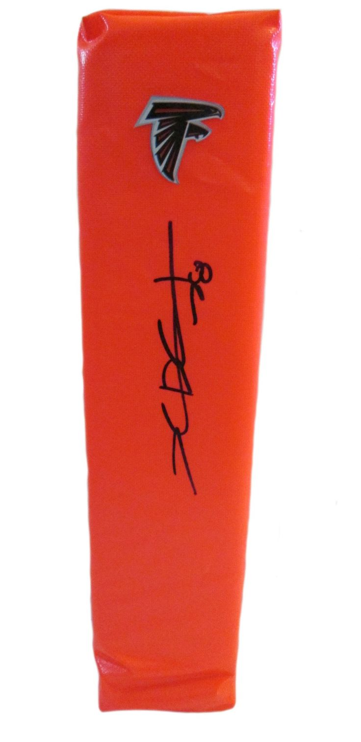 Thomas DeCoud Autographed Atlanta Falcons Full Size Football End Zone Touchdown Pylon. This is a brand-new custom Thomas DeCoud signed Atlanta Falcons full sizefootball end zone pylon. This pylon measures 4inches (Width) X 4inches (Length) X 18inches (Height). Thomas signed the pylonin black sharpie.Check out the photo of Thomas signing for us. ** Proof photo is included for free with purchase. Please click on images to enlarge. Please browse our websitefor additional NFL & NCAA…