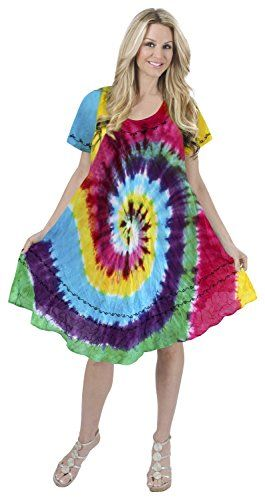 Women Embroidered Tie Dye Swimwear Beach DressCaftan Yellow Red Blue Violet Valentines Day Gifts 2017 -- Check out this great product.