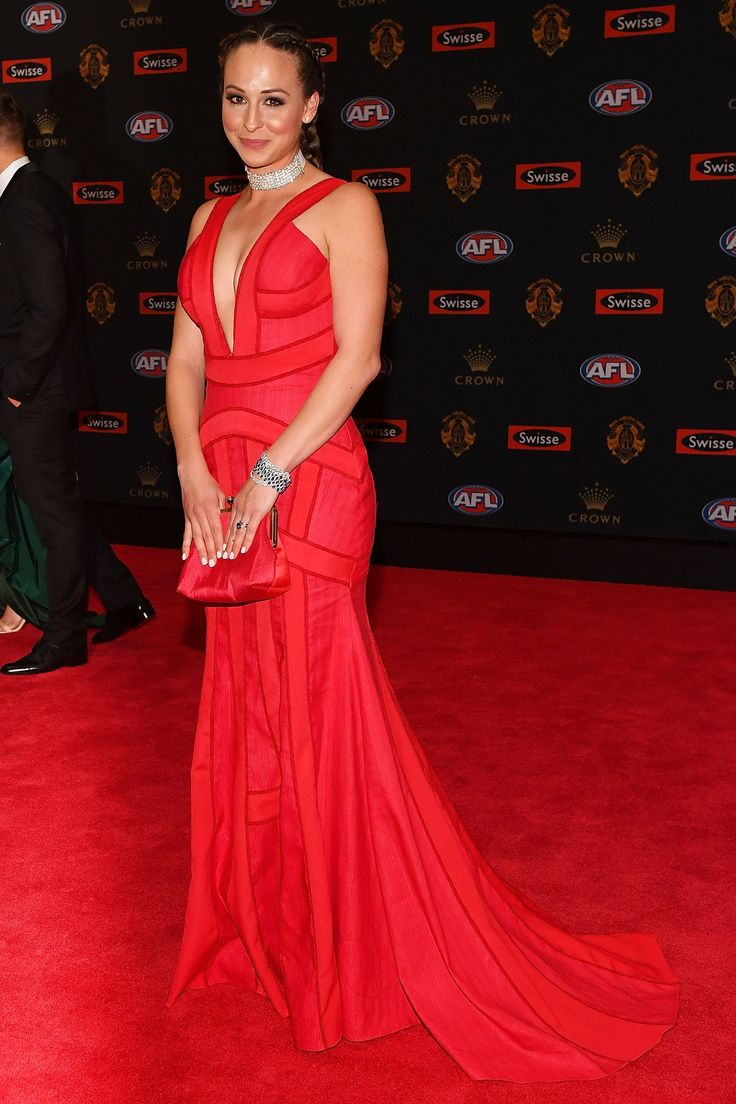 Mardi Dangerfield wearing Georgia Young Couture to the 2016 Brownlow Awards