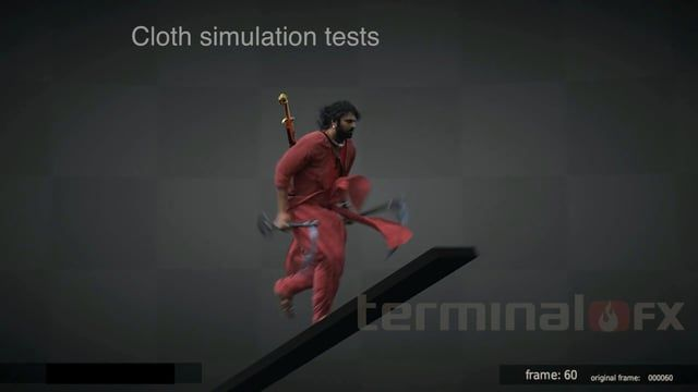 TerminalFX - Cloth simulation test  - Visual effects - Computer-generated characters - CG doubles  - Animation - Compositing - FX  Share this video: ----------------------------------------- https://vimeo.com/254302883  We are happy to share our new videos with you. Sign up to our channel not to miss new ones. Subscribe to this channel: ----------------------------------------- Cloth simulation test by Terminal FX