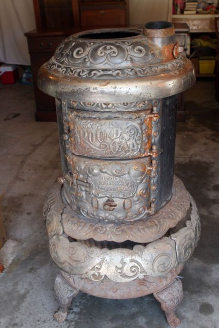 Antique Round Oak Wood Burning Pot Belly Stove M-18Antique Round Oak Wood  Burning Pot - 63 Best Wood Burning Stoves Images On Pinterest