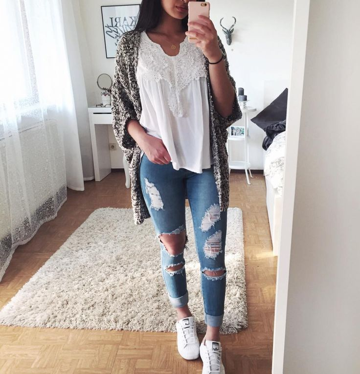fine school outfits with jeans tumblr 8