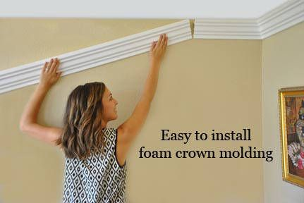 Foam crown moldings, Styrofoam crown molding, Flexible crown molding