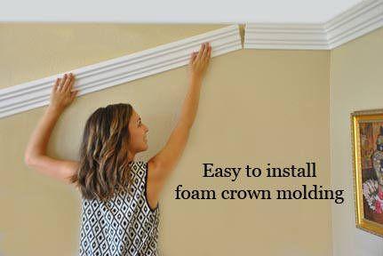 Foam crown moldings, Styrofoam crown molding, Flexible crown molding