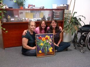 """""""Happiness is a Bouquet of Flowers"""" Corporate collection RGK Wheelchairs Toronto, ON www.CapriceArtStudio.com"""