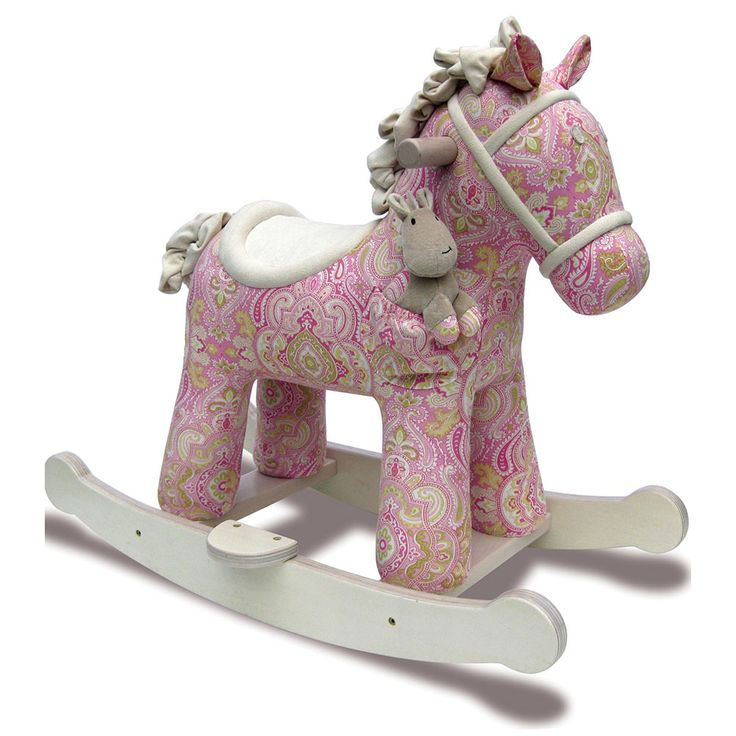Pixie & Fluff Rocking Horse and over 7,500 other quality toys at Fat Brain Toys. Designed with a paisley print fabric body, a comfortable saddle, and a soft faux suede mane and tail that crinkles beneath your fingers, this horse is sure to become an instant best friend. Not to mention, it also includes an extra plush pal that fits in the horse's pocket!