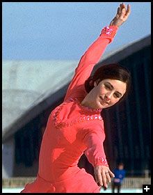 Peggy Fleming popularized figure skating and won a gold medal at the 1968 Olympics.
