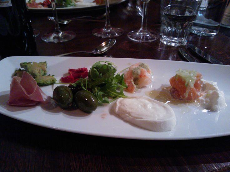 Appetizers at Radisson Seaside Helsinki