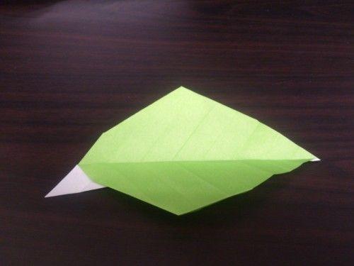 ハート 折り紙 折り紙ひまわり葉っぱ折り方 : br.pinterest.com