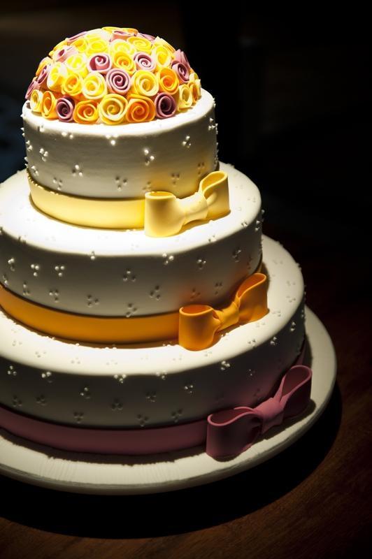 casamentos. Pretty wedding cake!