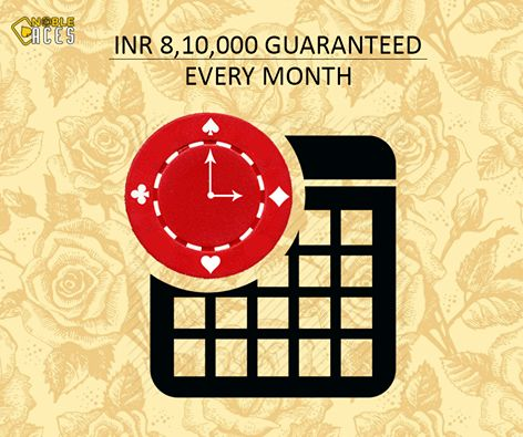 Play poker game Rs. 8,10,000 Guaranteed Every Month. If you think you have skills, it's time to earn in Lakhs. 15K GTD dail Weekly 50K GTD Hold'em and 15K GTD PL Monthly 150K GTD Hold'em
