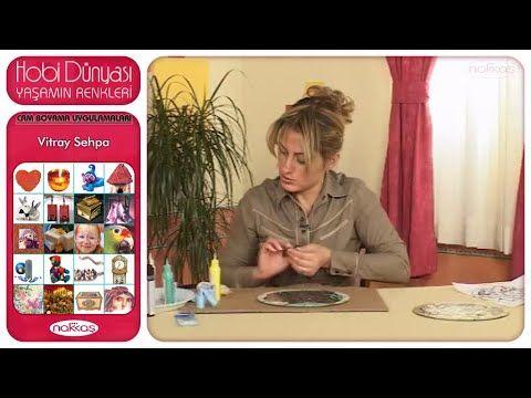 Cam Boyama Uygulamaları - Vitray Sehpa - YouTube