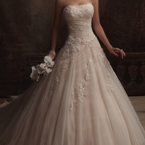This dress is gorgeous! I want a pretty dress when I get married because the guy deserves to have his bride to be look beautiful, since he will look stunning himself! <3