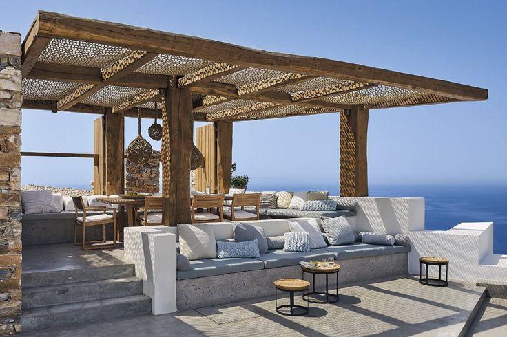 La casa de vacaciones perfecta está en Grecia Terraço