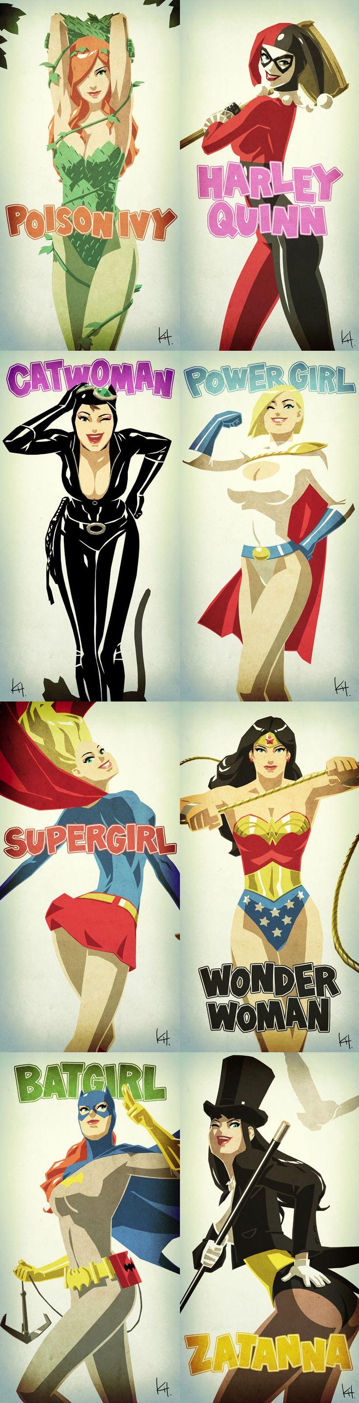 Quelques personnages de D.C comics
