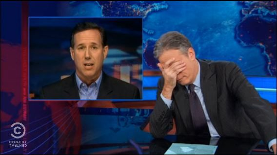 "Ezkool | Jon Stewart to Ignorant Santorum – ""Obamacare is NOT Apartheid!"""