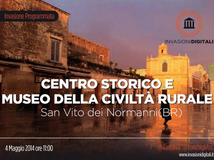#InvasioniDigitali: Domenica 4 Maggio alle ore 11.00 vi aspettiamo per l'invasione sanvitese   INFO:http://www.invasionidigitali.it/it/invasionedigitale/centro-storico-e-museo-della-civiltà-rurale-di-san-vito-dei-normanni#.U1JlFeZ_sQ4  Hashtag: #invadiSanvito #InvasioniDigitali #Lecce2019